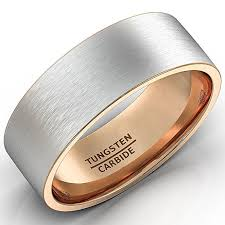 a few men wedding band mens wedding band two tone tungsten ring 8mm brushed matte