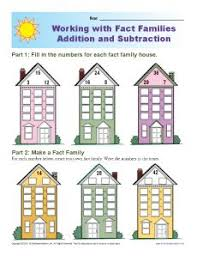 fact family worksheets addition and subtraction