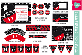 freebie mickey u0026 minnie inspired printables leo loves invitations