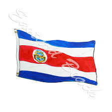 Costa Rico Flag Flags Eastard Beach Wildlife Decals And Stickers