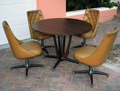 Vintage Chromcraft Dining Set Dinette Round Table Swivel Bucket