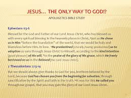 jesus the only way to god apologetics bible study ppt