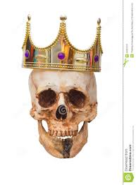 halloween gold king or queen skull with crown halloween concept stock photo