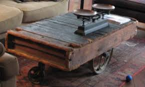 Industrial Cart Coffee Table Industrial Cart Coffee Table Eclectic Living Room Seattle