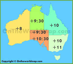 Italy Time Zone Map by Australian Time Zone Map