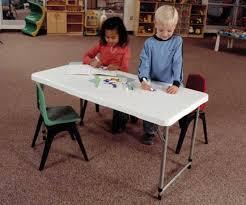 Adjustable Height Folding Table Lifetime Adjustable Leg Table 4428 White 4 Foot Fold In Half