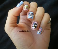 hello kitty nails filed u0026 styled filed u0026 styled hello kitty nails