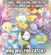 Pokeman Meme - legendary pokemon meme who will you catch by scorpionspear77 on
