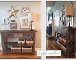 Foyer Table With Drawers Console Table Etsy
