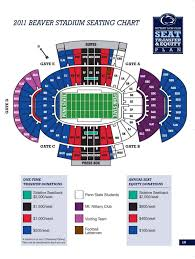 Penn State Parking Map Visitor Sections At Beaver Stadium