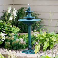 Home Decor Water Fountains by Outdoor Unique Water Fountains For Gardens With Tiny Stones Green