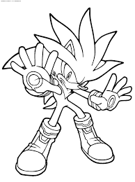 fast super sonic coloring pages printable throughout super sonic