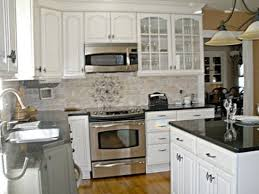 Transitional White Kitchen - popular small white kitchen designs my home design journey