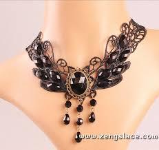 black gothic choker necklace images Gothic choker lace choker collar sexy choker black wide choker jpg