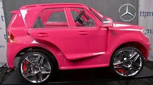 light pink mercedes mercedes benz ml63 amg ride on from avigo youtube
