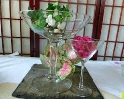 Martini Glass Centerpieces Glass Centerpiece Etsy