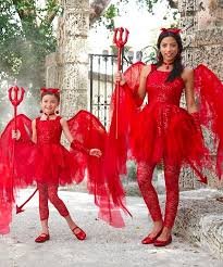 Mommy Halloween Costumes Mother Daughter Matching Sweet Devil Costume Mommy Daddy U0026