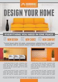 interior design flyer template for interior design studio