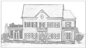 coloring page house houses coloring pages murderthestout
