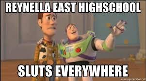 Sluts Memes - reynella east highschool sluts everywhere x x everywhere meme