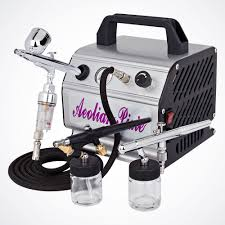new 3 airbrush kit air compressor dual action spray paint s tattoo nail art