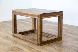 Cube Coffee Tables Black Walnut Cube Coffee Table The Table Furniture