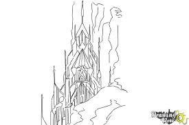 draw elsa u0027s ice palace ice castle drawingnow