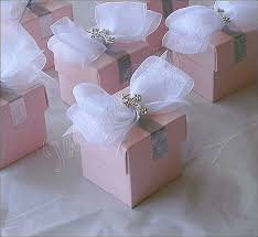 baptism favor boxes 24 girl s pink baptism communion silver cross and bow favor box