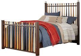 Baseball Bed Frame Batter Up Cherry 2 Pc Baseball Bed Beds Wood