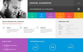 resume website template gridus vcard cv resume portfolio wrapbootstrap