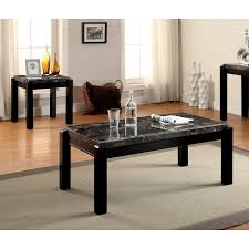coffee table and end table sets 2 furniture of america leslie 2 piece genuine marble top coffee and
