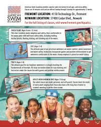 What Is Comfortable Water Temp For Swimming Aquatics City Of Fremont Official Website