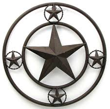 metal star home decor 16 rustic farmhouse brown metal stars on edge texas lone star
