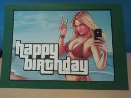 gta birthday card card designs ask for prices pinterest