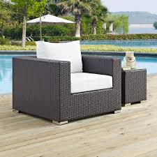 Modern Patio Lounge Chair International Caravan Valencia All Weather Wicker Contemporary