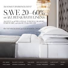 restoration hardware the home furnishings event save 20 60 on