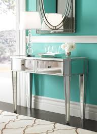 wood and mirrored console table amazon com powell mirrored console with silver wood kitchen dining