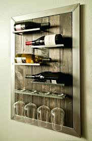 wine glass cabinet wall mount wall mounted wine glass rack rack and hook stemware glass rack wine