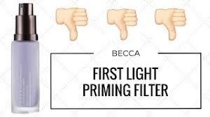 becca first light priming filter review becca first light priming filter beautyalmanac com