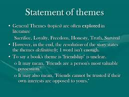 story themes about friendship theme the author s message ppt video online download