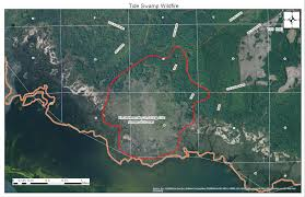 Wildfire Perimeter Map by Florida Forest Service Fighting Wildfire In Taylor County