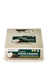 cocoa cassava bars with coconut u0026 chia seeds box of 12 bars