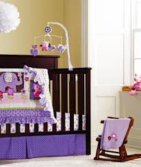 purple 3d embroidery elephant owl bird baby bedding set include