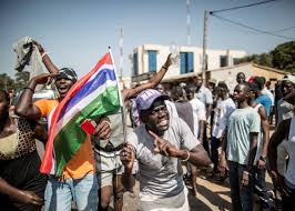 Gambia Flag Yahya Jammeh Defeated In Gambia Election