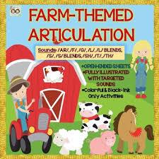 themed l farm themed articulation ar f g l s sh t th s l blends