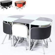 space saver table set charles jacobs 2017 contemporary table and 6 chair set space saver
