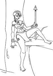 zecora up a tree coloring page wecoloringpage