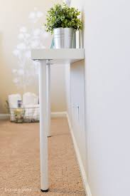 Narrow Console Table Simple Ikea Hack Narrow Console Table Hey Let S Make Stuff