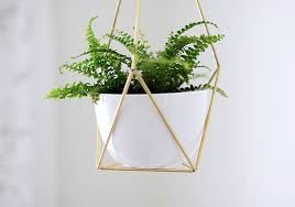 Geometric Hanging Planter by Nalle U0027s House Diy Brass Himmeli Hanging Planter