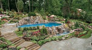 Backyard Design Ideas With Pools Swimming Pool Landscaping Ideas Inground Pools Nj Design Pictures